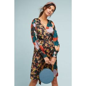 New Anthropologie Latona Wrap Dress Atelier Blue